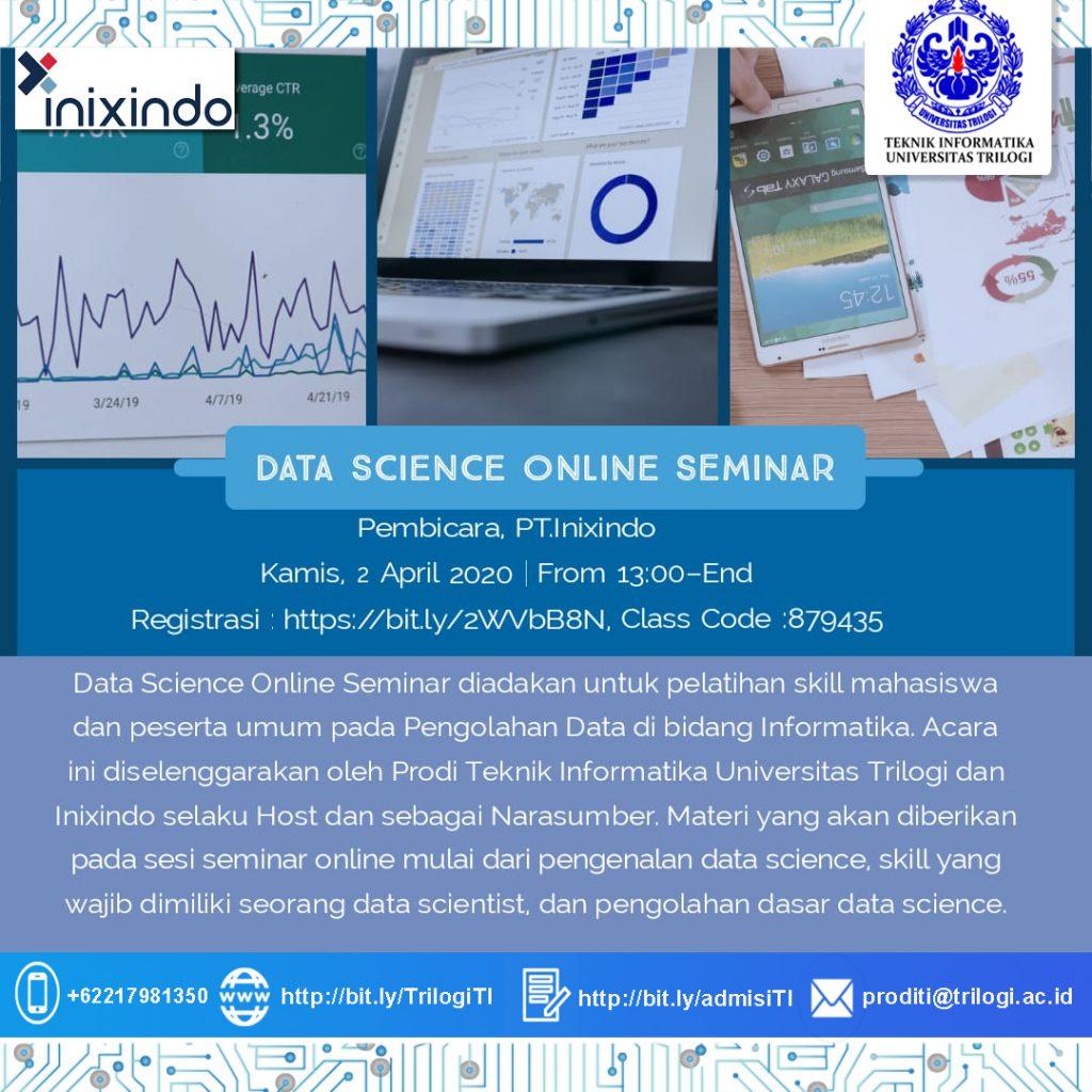Webinar Data Science Penyelenggara Program Studi Teknik Informatika Universitas Trilogi