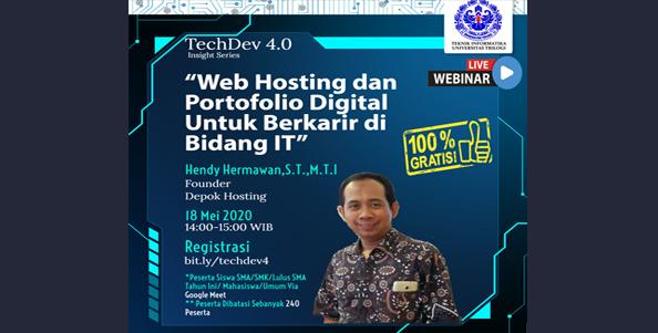 techdev4.0 : Hosting dan Portofolio Digital | Prodi Teknik Informatika