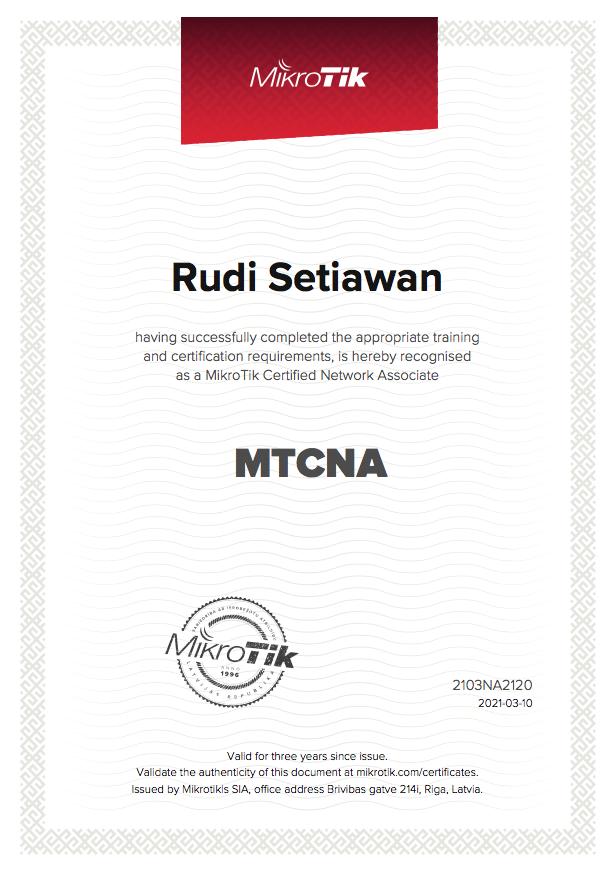 MTCNA MikroTik Universitas Trilogi Program Studi Sistem Informasi