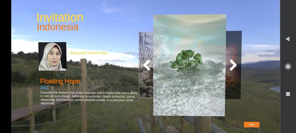 Dosen DKV dan DP Univ. Trilogi ASEDAS International Virtual Digital Art Exhibition 2021
